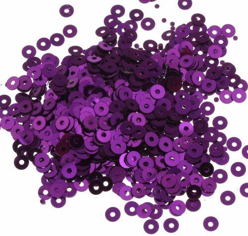 2400 Pailletten 3mm Violett Rund Glatt Perlen Basteln Nähen Deko BEST PAI23
