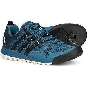 chaussures de séparation 3e9c1 7ed6e Details about Adidas Terrex Solo Men's Trail Running Sneaker (Size 8.5 -  12) BB5562 Blue Black