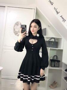 Image Is Loading Women 039 S Korean Sexy Pleated Dress Sweet