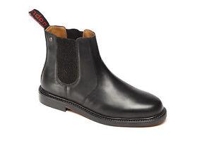 Para Hombre Catesby CX05 Negro Cuero Superior y Suela Chelsea Distribuidor Tobillo Botas 6 - 12