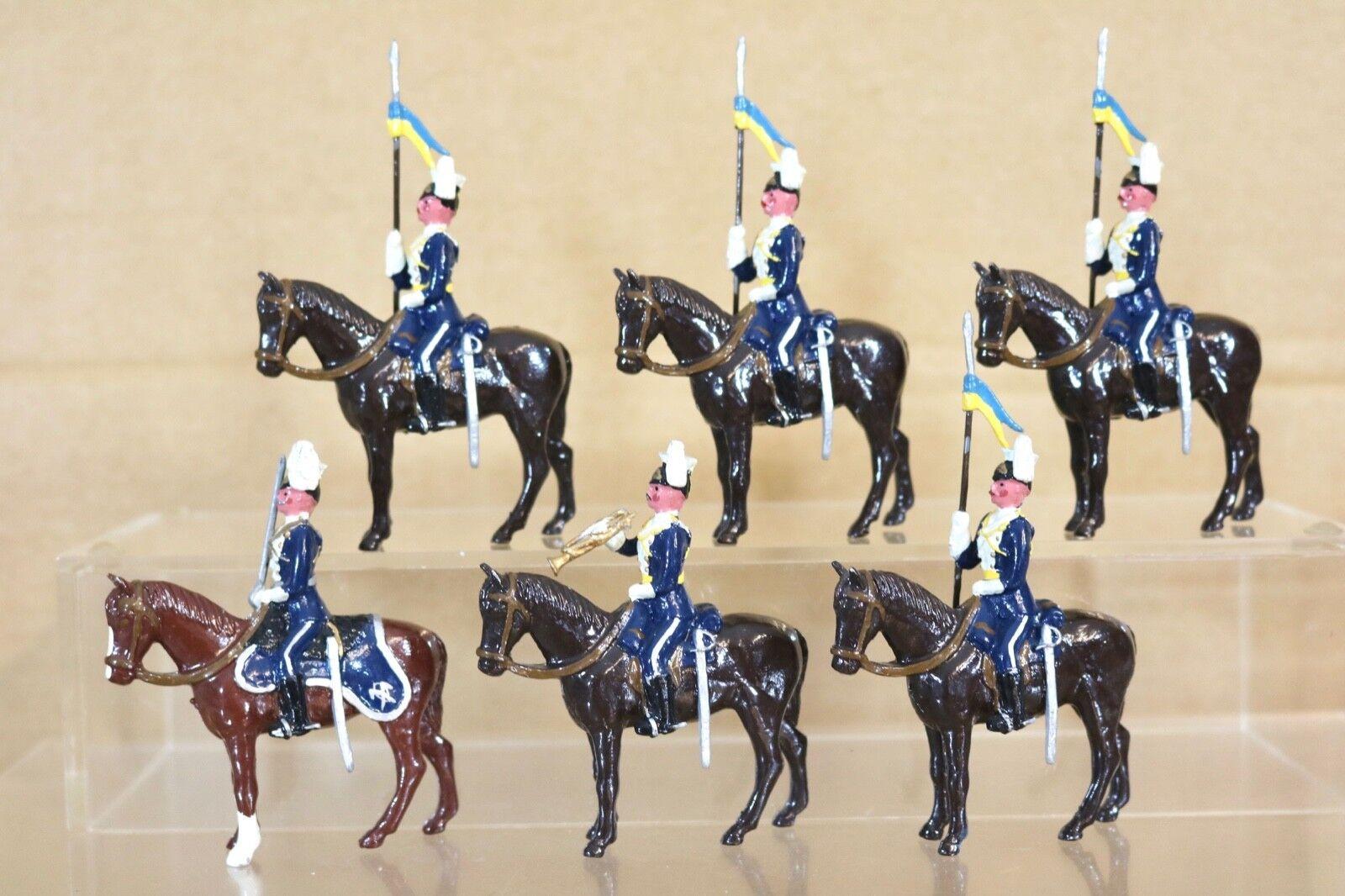 Britains Re Fundido Montada City Of London Yeomanry Rough Riders On Parade X 6