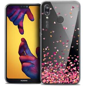 Coque-Crystal-Gel-Pour-Huawei-P20-LITE-5-84-034-Souple-Sweetie-Heart-Flakes