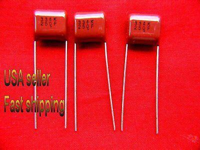 .33uf  250v Panasonic radial film caps FREE SHIPPING 0.33uf, 330nf 4 pc