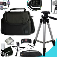 "Panasonic LUMIX GF3 Well Padded CASE / BAG + 60"" inch TRIPOD + MORE"