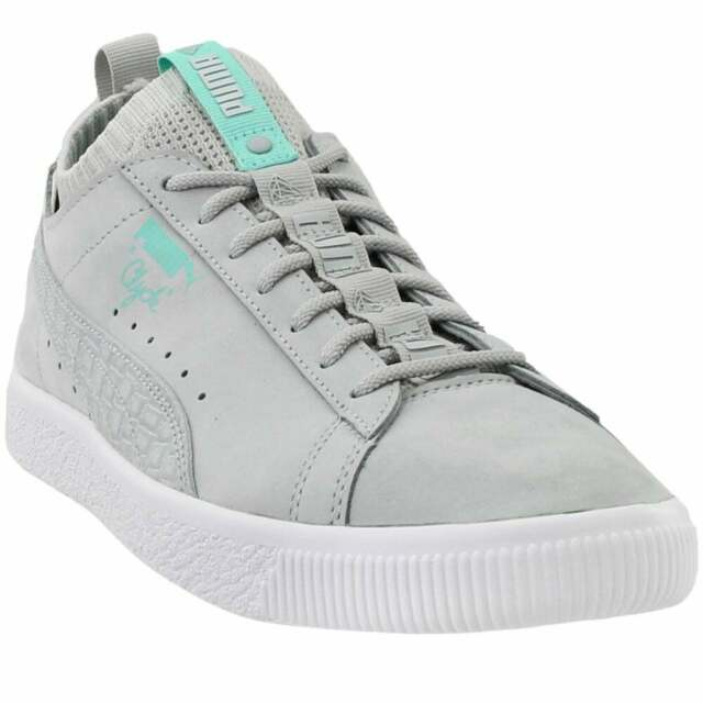 Puma Clyde Sock Low Diamond Sneakers Casual Grey Mens