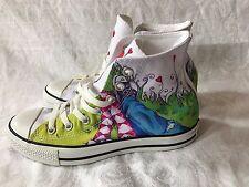 All Star Converse Shoes High Top Chuck Taylor Love Air Balloon Size 8 Rare