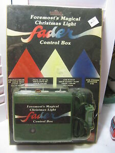 image is loading vintage foremost 039 s magical christmas light fader