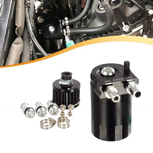 """Vincos Universal 3//8/""""/&9//16/"""" 400ml Aluminum Oil Catch Can Dual Cylinder Polish..."""