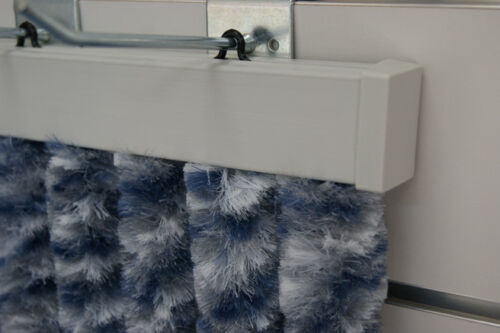 Flauschvorhang Türvorhang 100x200cm Fliegenschutz Chenille grau-blau Explorer