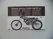 advertising Pubblicità 1980 MOTO FANTIC TRIAL 50