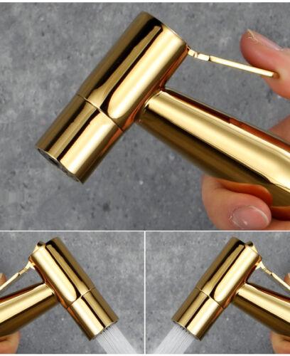 Luxury Titanium Gold Handheld Bidet Sprayer Stainless Steel Hose Holder Set