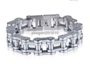Bicycle Bike Chain Style Bracelets Biker Chrome Stainless Steel Punk Gothic Gift