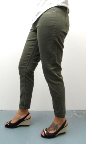 Women/'s New Ex M/&S Collection Relaxed Skinny Stretch Turn-up Cuff Jeans MS44