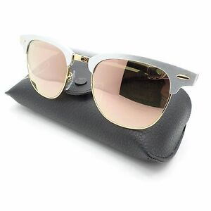 409ee60836 Details about Ray Ban 3507 137 7O Brushed Silver Gold Copper Mirror New  Sunglass Authentic