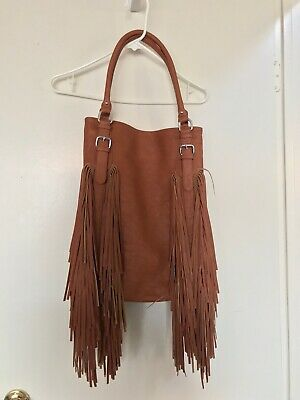 Vegan Leather Handbag Purse Fringe
