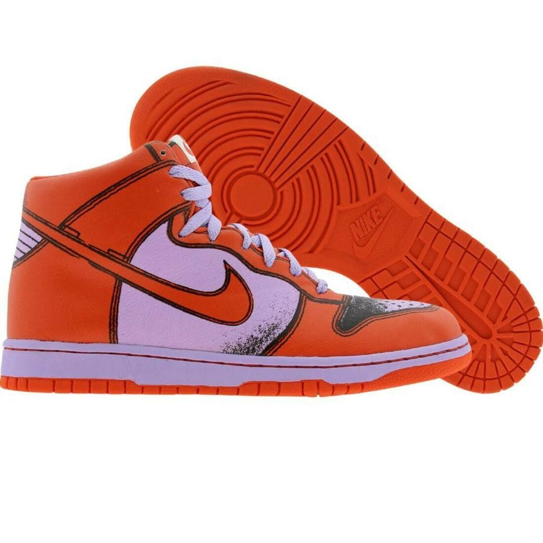 318998-581 Nike Dunk High 1 Piece premium violets Ice Deep Orange