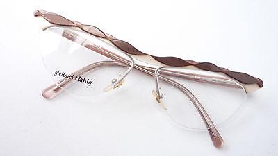 Brillenfassungen Billiger Preis Real Vintage Brille Cateye Groß Braun Rarität Nur Oberrand Damen 60/70s Size L Ungleiche Leistung