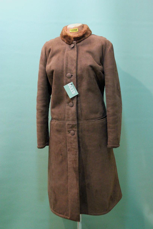 Vintage Lamm Fell Mantel ca 46 XL brown echt Leder shearling vintage Zarenmantel