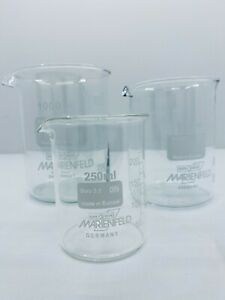 Set-Beakers-250-600-1000-ml-Borosilicate-glass-3-3-low-shape-with-spout