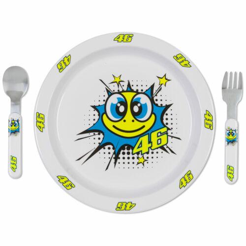VR46 Valentino Rossi MotoGP Tarta Baby Meal Set Feeding Fork Spoon Dish