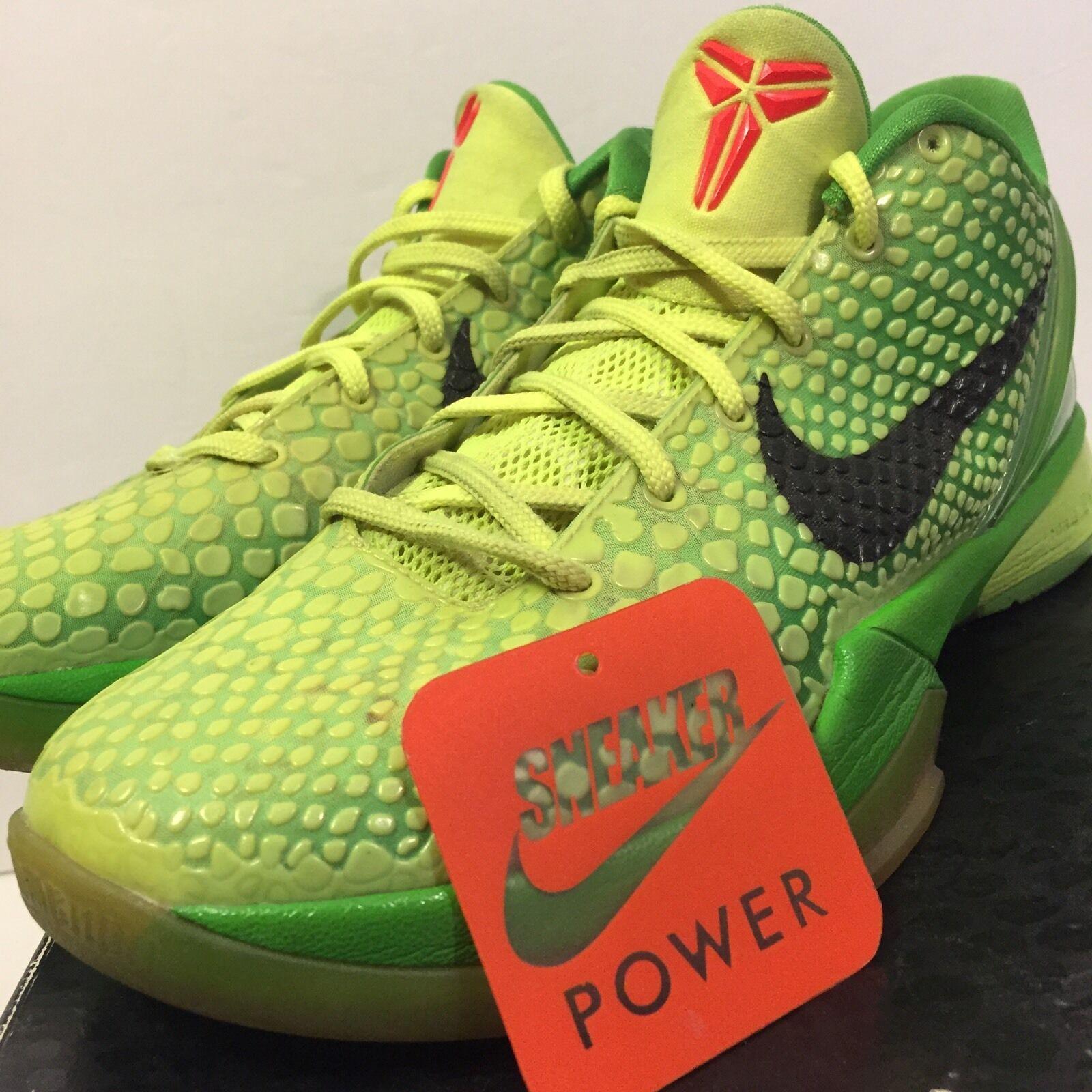 Nike zoom kobe vi 6 verde sz 8,5 grinch volt mela verde 6 natale natale rosso 429659-701 776395