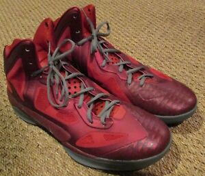 57942784680 Nike Air Zoom Hyperfuse 2011 Team Red Basketball Shoes Sneakers Size ...