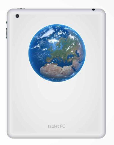 2 x 10cm Earth Vinyl Sticker Luggage Travel Tag Globe Map Europe Space Fun #9559