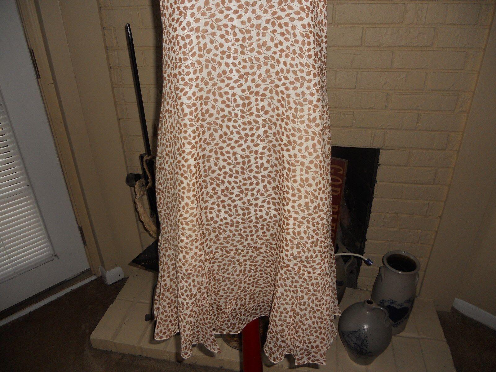 NWT MADEWELL 1937 SILK RUFFLE-HEM TANK DRESS IN IN IN LEAF SHADE SIZE SMALL 0307cc