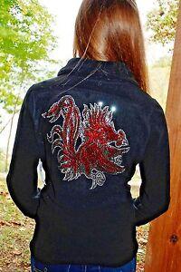 6e1c1ea54 Image is loading South-Carolina-Gamecocks-rhinestone-Bling-fleece-jacket-XS-