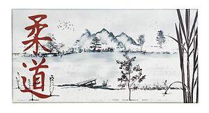 Ju-Sports - Leinwanddruck Ju-Jutsu Landschaft, 80x40cm - Keilrahmen