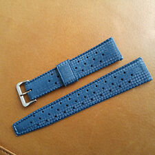 NOS Genuine Vintage 20 mm Blue Tropic Swiss Made Dive Band/Strap w/Acier Buckle