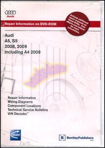 audi shop manual a5 s5 a4 service repair book bentley 2008 2009 rh ebay com audi q5 shop manual audi service manual