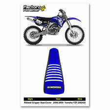2006-2009 YAMAHA YZF 250-450 Black/Blue/White RIBBED SEAT COVER BY Enjoy Mfg