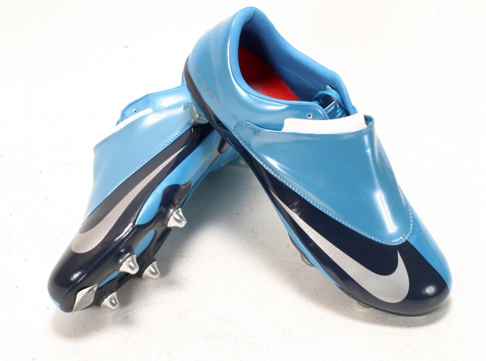 Raro botas De Fútbol Nike Mercurial Vapor II Azul Claro Azul Marino Nuevo Y En Caja9, 13 EU44, 47
