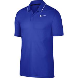 b32c2050d Nike Golf Men's Blue Tipped Standard Fit Dri-Fit Short Sleeve Mesh ...