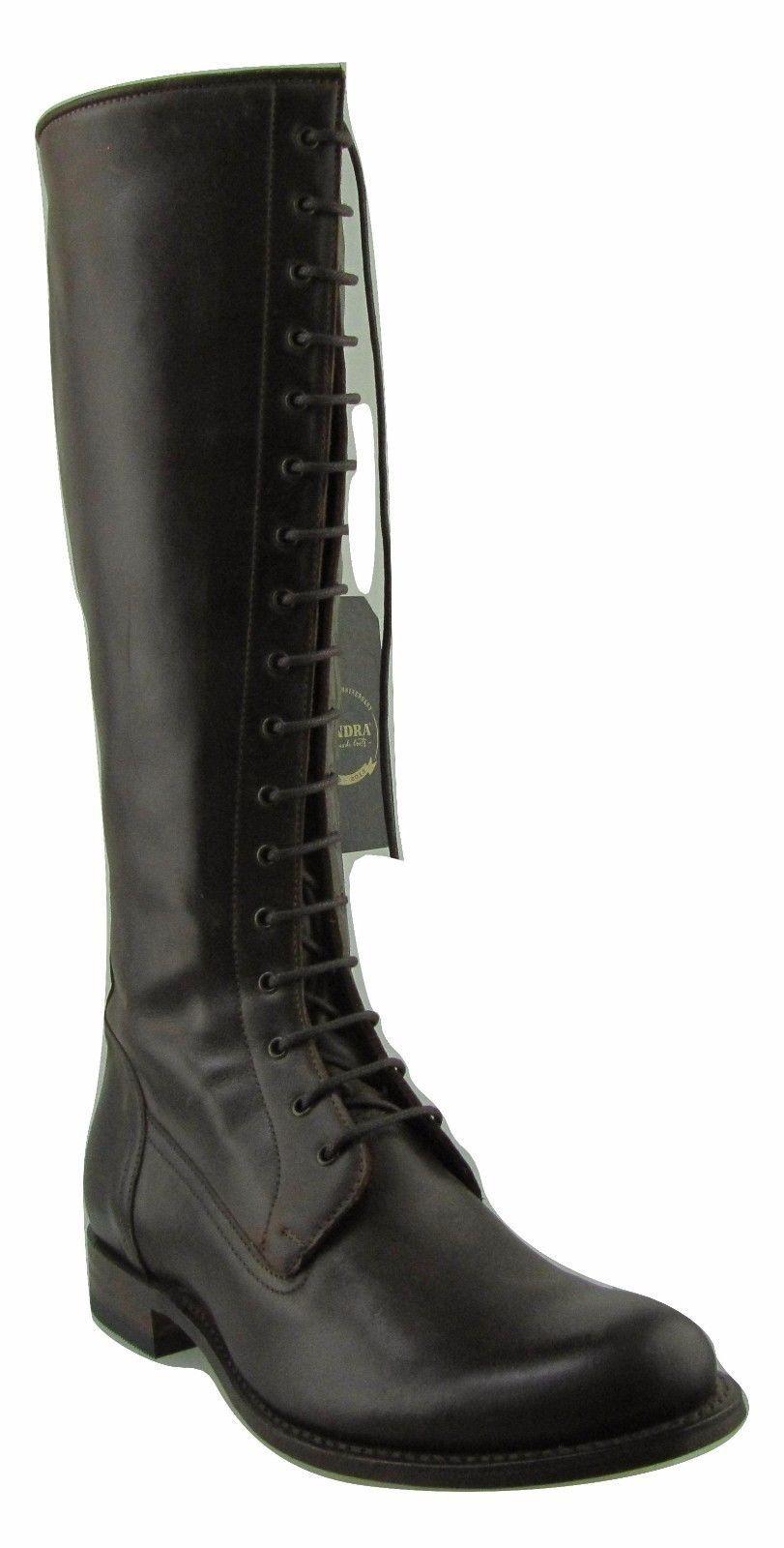 7277 7277 7277 Sendra botas de vaquero occidental de Cuero Marrón Biker hecho a mano de las Señoras Con Cordones  Precio por piso
