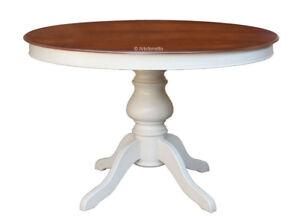 Table Ronde Diametre 100.Details Sur Table Ronde Diametre 100 Cm Table Prolongeable Table A Manger Bicolore