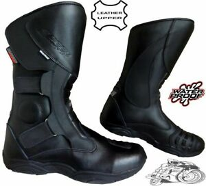 BLACK-HAWK-HIGH-TECH-MENS-MOTORBIKE-MOTORCYCLE-CE-TOURING-LEATHER-SHOES-BOOTS