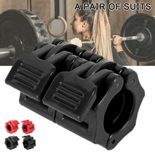 1Pair Spinlock Collars Barbell Dumbbell Clips Clamps Weight Bar Locks Buckle UK