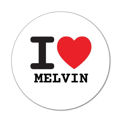 I love MELVIN 6cm Aufkleber Sticker Decal