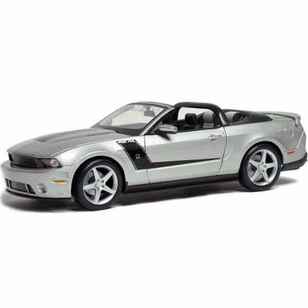 2010 Roush 427 Ford Mustang Maisto Fundido Coche Modelo de Colección De Plata 1 18