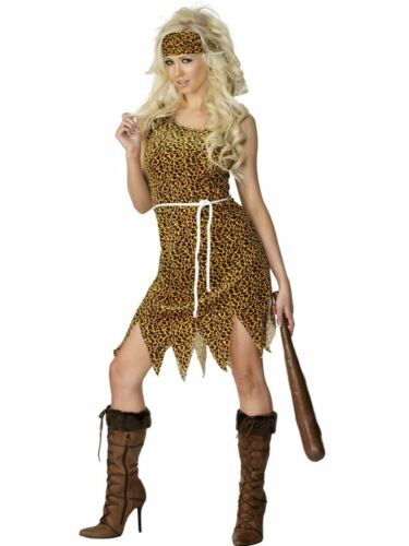Cavewoman  Jungle Jane Ladies Fancy Dress Hen Party Costume Outfit Adult