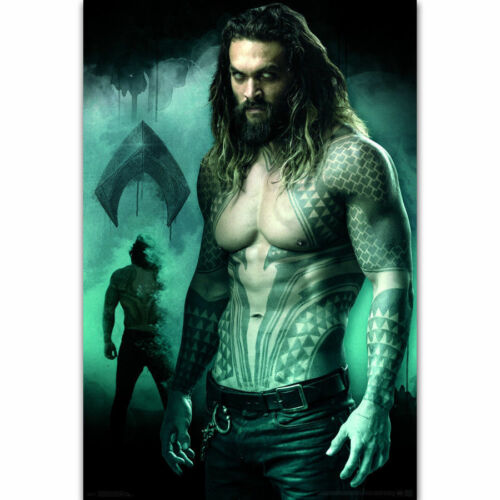 Jason Momoa C-01 New Aquaman 2018 USA DC Movie Superhero Poster 14x21 24x36in