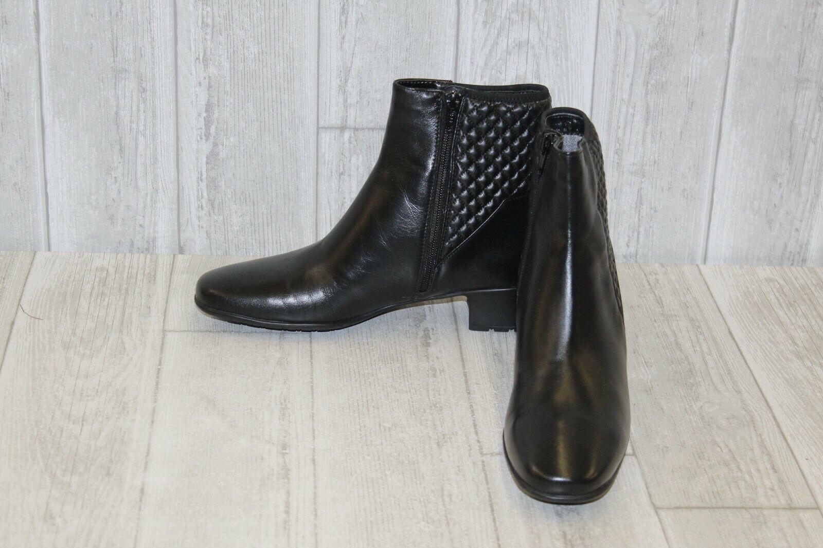Sesto Meucci Yogita Waterproof Leather Booties, Women's Size Size Size 7.5, Black NEW 8a4acf