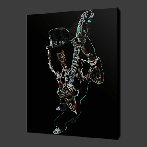 "SLASH GUITAR ABSTRACT MUSIC CANVAS WALL ART PICTURES PRINTS 20/""x16/"" FREE UK P/&P"