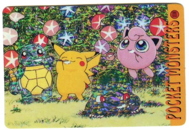 PROMO POKEMON JAPANESE DOUBLE SIDE CARD HOLO N° 1110 1116 PIKACHU MIMITOSS