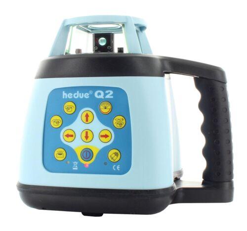 Rotationslaser hedue Q2 rotem Laserstrahl Laser-Empfänger E2 Autom Stativ