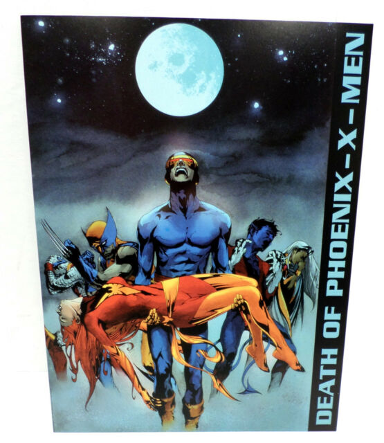 X-Men (Jae Lee,card,print,art,invitation,Phoenix,death)