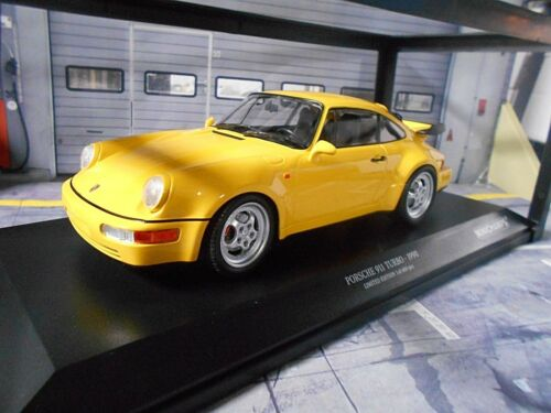 PORSCHE 911 964 TURBO COUPE 1990 Yellow Giallo New NUOVO Minichamps Diecast 1:18