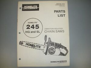 Image Is Loading Homelite Chainsaw Parts List Manual Ipl 245